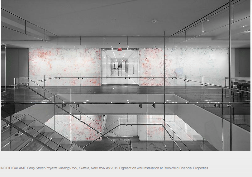 Screen shot of Ingrid Calame's installation, ""