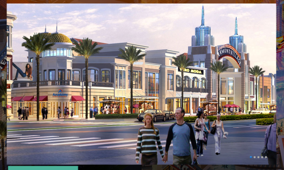 South L.A., is that you? Renderings by the Sassony group for Vermont Village, to be built on the NE corner of Vermont and Manchester. (screenshot from the SG website)