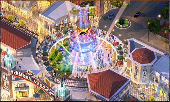 The performance space planned for the Vermont Entertainment Village. Source: Sassony Group
