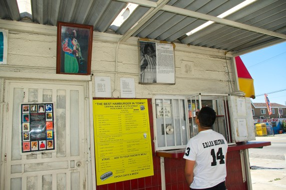 Historic memorabilia at the Snack Shack hints at the past glory of Central Ave. Sahra Sulaiman/Streetsblog L.A.