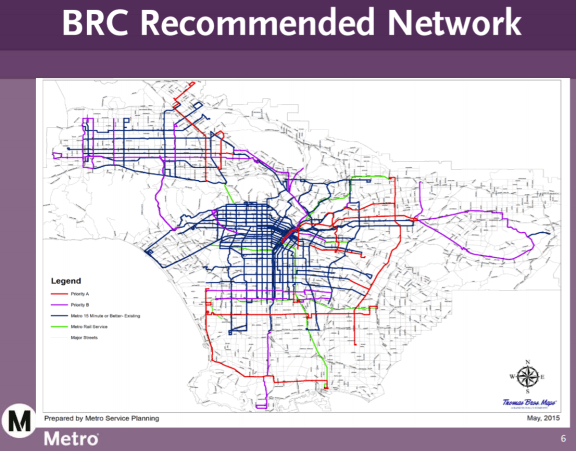 Metro's proposed frequent bus network. Image from Metro presentation