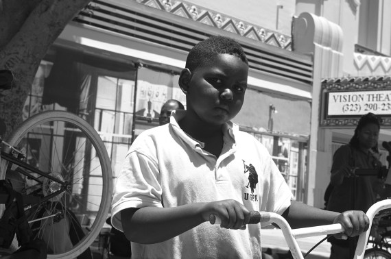 Only 7 years old, this boy had some very clear ideas about what he wanted his bike to look like. Sahra Sulaiman/Streetsblog L.A.