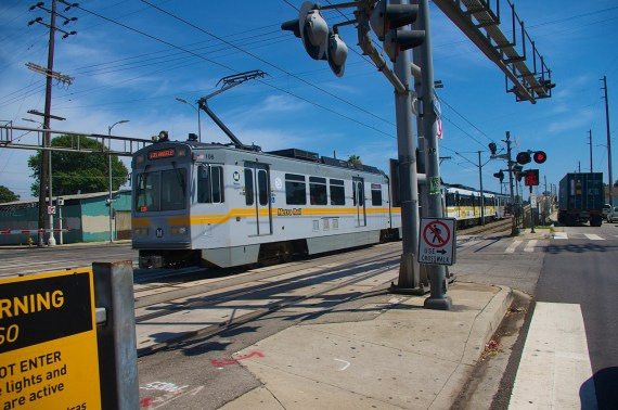 Changes are on the way at 27 at-grade crossings along the Blue Line. Sahra Sulaiman/Streetsblog L.A.