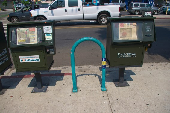 Usually placement of bike racks is good. Usually. Sahra Sulaiman/Streetsblog L.A.