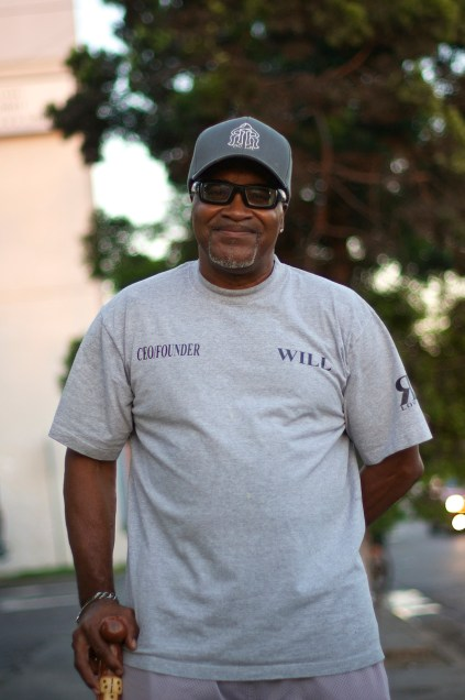 Will Holloway, president of the South L.A. Real Rydaz, calls for road sharing on Central. Sahra Sulaiman/Streetsblog L.A.