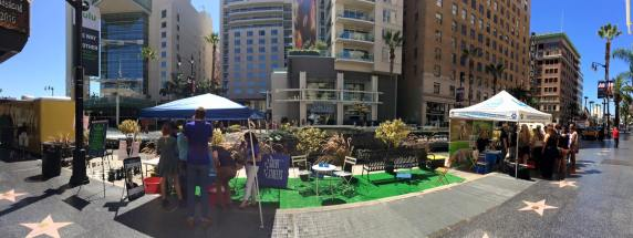 Hollywood Park(ing) Day parklet. Photo via Great Streets