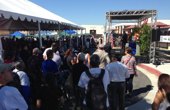Metro CEO Phil Washington speaking at the Azusa stations dedication last Satursday. Photos by Joe Linton/Streetsblog L.A.
