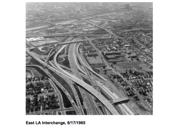 East L.A. Interchange in 1965. Source: Caltrans