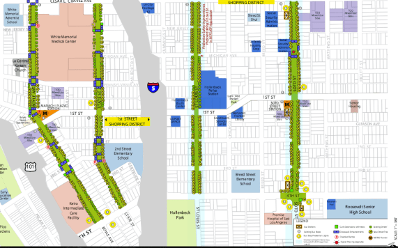 The streets that will see improvements are Boyle, Soto, State, and St. Louis (between Cesar Chavez to the north and 4th to the south). Source: ATP proposal
