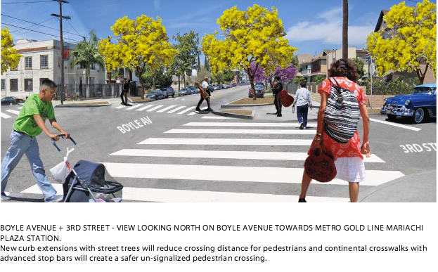New crossings at 3rd and Boyle. Rendering: Deborah Murphy