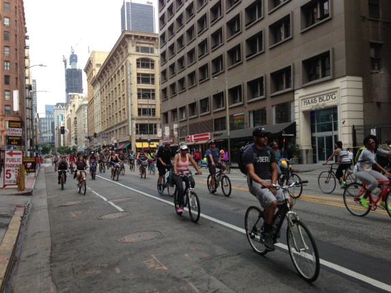 CicLAvia XV takes over downtown L.A.'s 7th Street. All photos: Joe Linton/Streetsblog L.A.