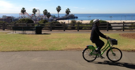 Santa Monica's Breeze Bike-Share system opened earlier today. Photos by Joe Linton