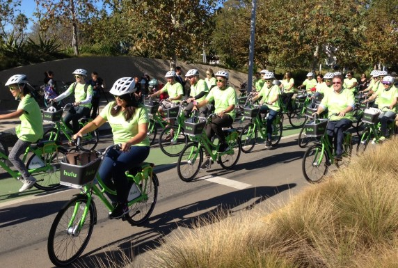Hulu and CycleHop are businesses that made Breeze bike-share happen.
