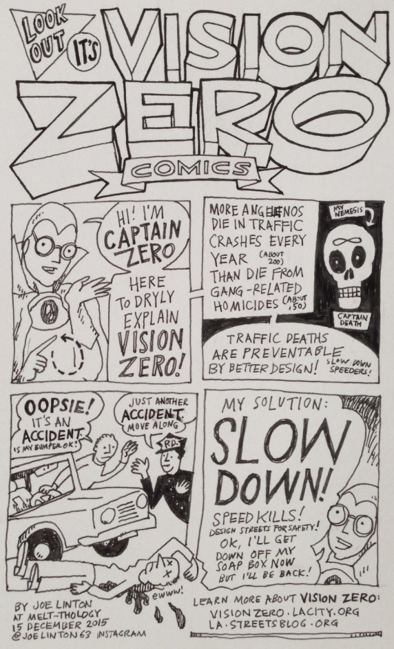 Vision Zero Comics from Melt-Thology #16. Art by Joe Linton