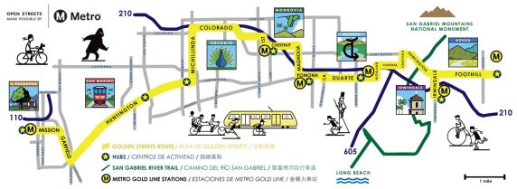 June 26 San Gabriel Valley open streets map!