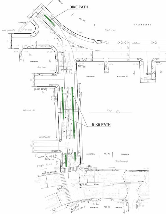 The Fletcher bike lanes will continue on Avenue 35. Source: GPIA