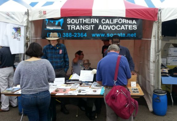 SoCaTA booth this year at Fullerton Railroad Days. Photo by Dana Gabbard