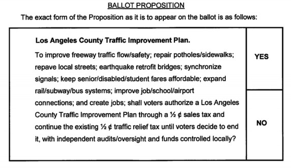 Metro's sales tax proposal as it will appear on the November 2016 ballot.