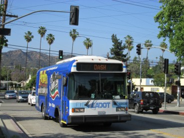 LADOT DASH bus - photo via Walk Eagle Rock