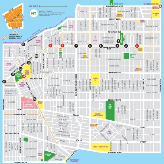 WeHo Pedals system map