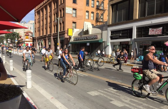 CicLAvia on Broadway yesterday