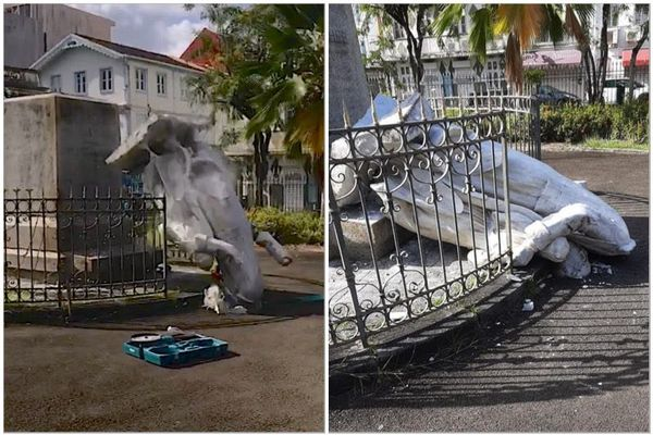 Statue détruite à Fort-de-France