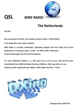 Mike Radio QSL-1