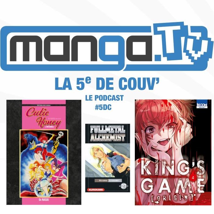 Le Survival manga & Mort des persos importants – podcast de Manga.Tv – La 5e de couv' #5DC – Saison 1 Episode 2