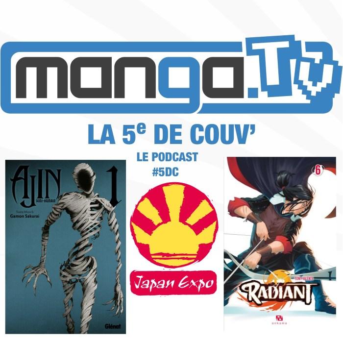 Anti-héros, conventions et french touch – La 5e de couv' – le podcast de Manga.Tv – Saison 1 Episode 4  #5DC – intégrale