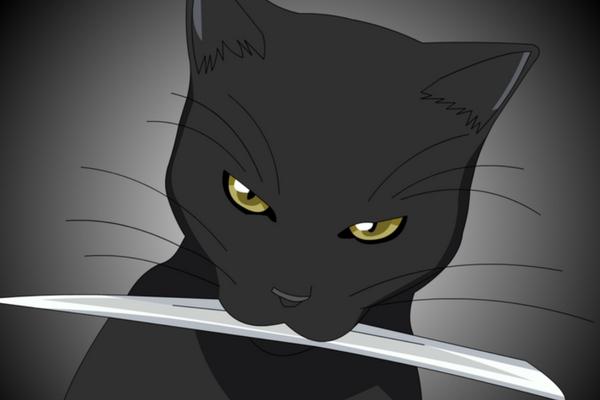 Les chats noirs du manga !