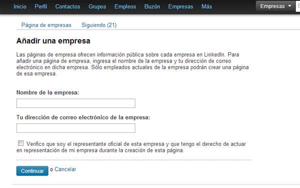 Crear y editar una página de empresa en Linkedin. (2/3)