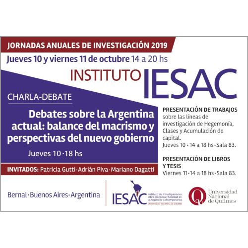 Jornadas Anuales de Investigación 2019 | Instituto IESAC