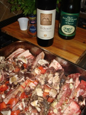 Baked pancetta with local mushrooms (hand-picked)