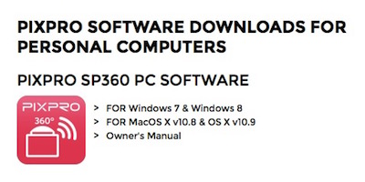 PIXPRO SP360 PC SOFTWARE