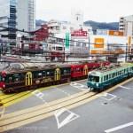 ダイナミックにすれ違う路面電車が印象的な浜大津駅周辺で写真を撮ってきた。