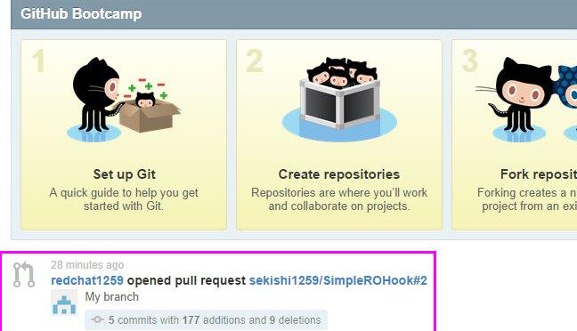 GitHub で Pull Request を受理する