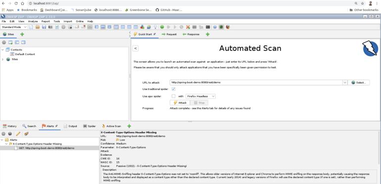 OWASP ZAP security scanner