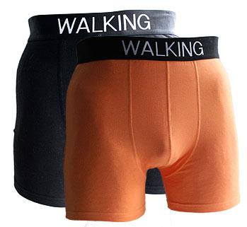 orange och svarta kalsonger
