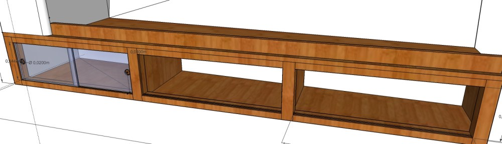 petit meuble a portes coulissantes
