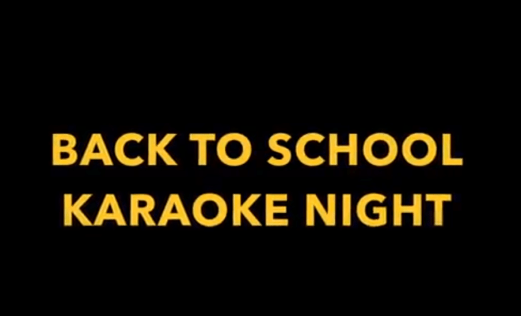 """Back To School"" Karaoke Party, August 31st"