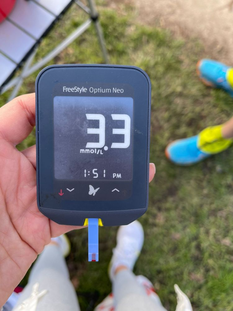 Blood Glucose level after the run