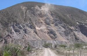 Detonación en cantera de San Catequilla. Imagen tomada de quitsato.org