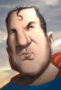 El General Juan Domingo Perón, cuando reemplazó a Clark Kent. Dibujo a lápiz con color por Photoshop. Autor Diego Parpa. http://www.actitudtravolta.blogspot.com/2007/09/el-hombre-de-acero.html