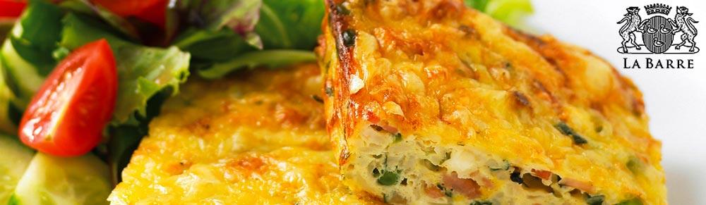 Zucchini Slice with La Barre Olive Oil