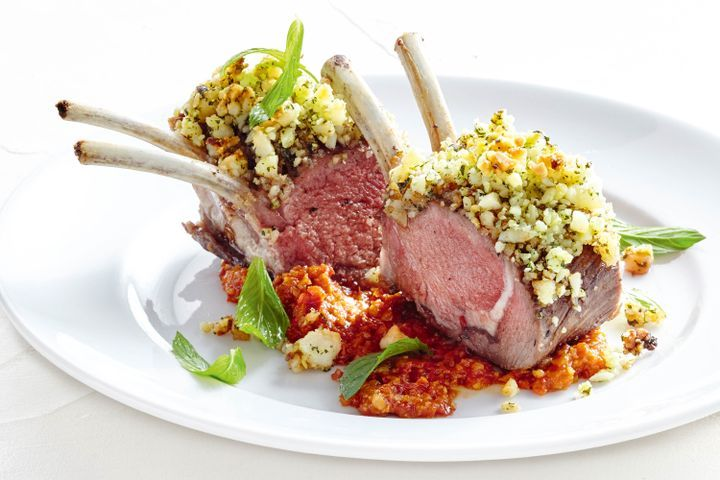 Macadamia crusted lamb with chilli