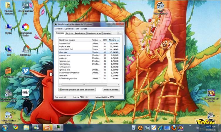Matar Proceso Aero - Windows 7 (1/6)