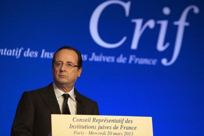 François Hollande au dîner du CRIF en 2013.