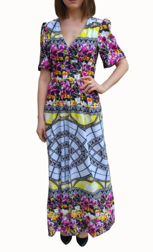 Pattern-clash-maxi-dress