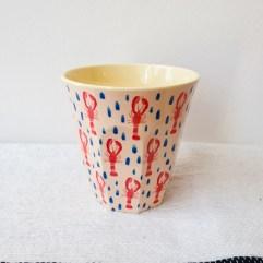 Kreeft print, medium melamine beker - Rice